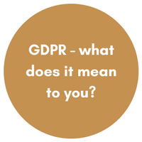 GDPR - what does it mean to you?