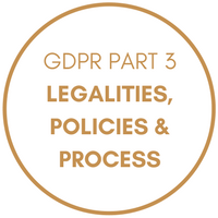 GDPR Part 3 - Legalities, Policies and Process
